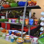 L'art de la table en couleurs, vaisselle en porcelaine peinte à la main